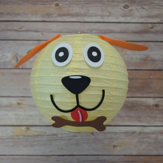 kinderleichte Laternen basteln DIY Papierlaterne Hund