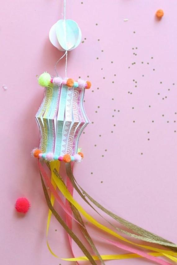 kinderleichte Laternen basteln DIY Papierlaterne