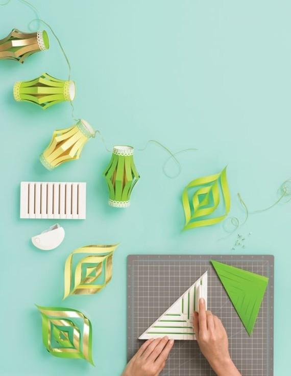 kinderleichte Laternen basteln einfach DIY Papierlaterne