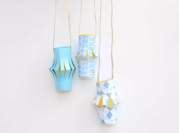 kinderleichte Laternen basteln einfache DIY Papierlaterne