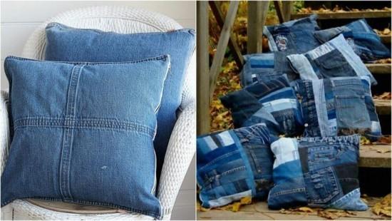 kissen basteln jeans upcycling ideen zum nachmachen