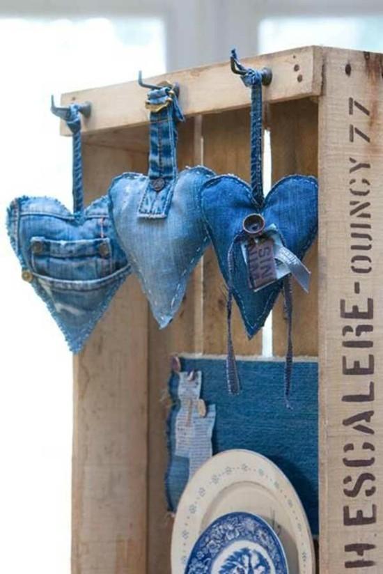 kleine herzen jeans upcycling ideen zum nachmachen
