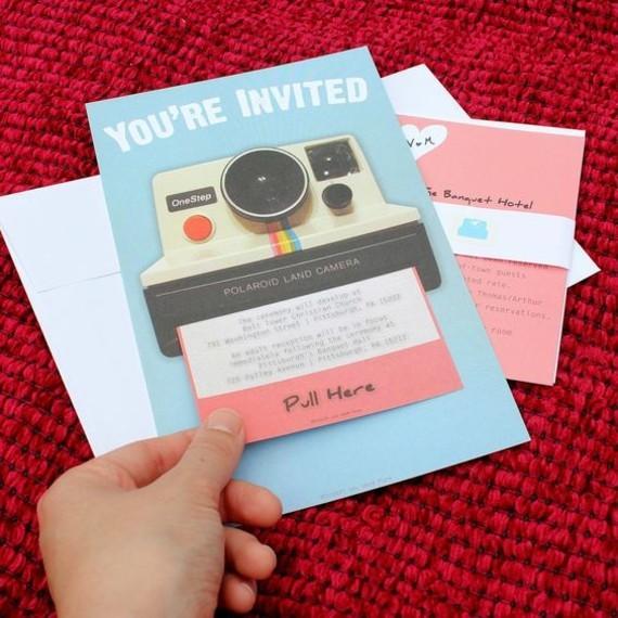 kreative Einladungskarten erstellen Kamera