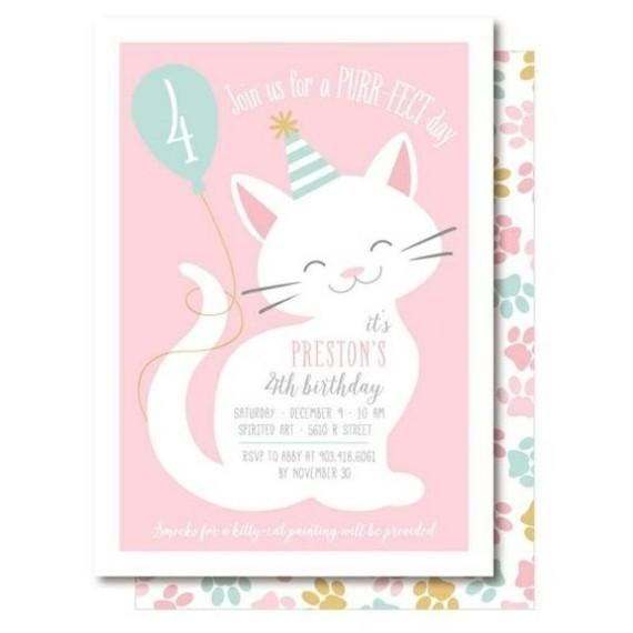 kreative Einladungskarten erstellen Katze Einladung