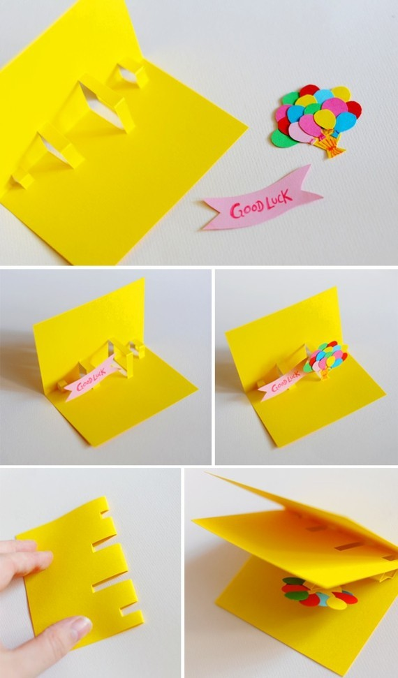 kreative Einladungskarten gestalten Bastelideen