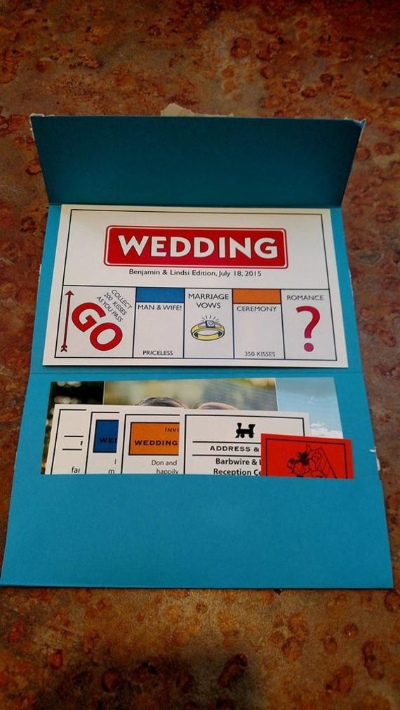 kreative Einladungskarten gestalten Monopoly Design