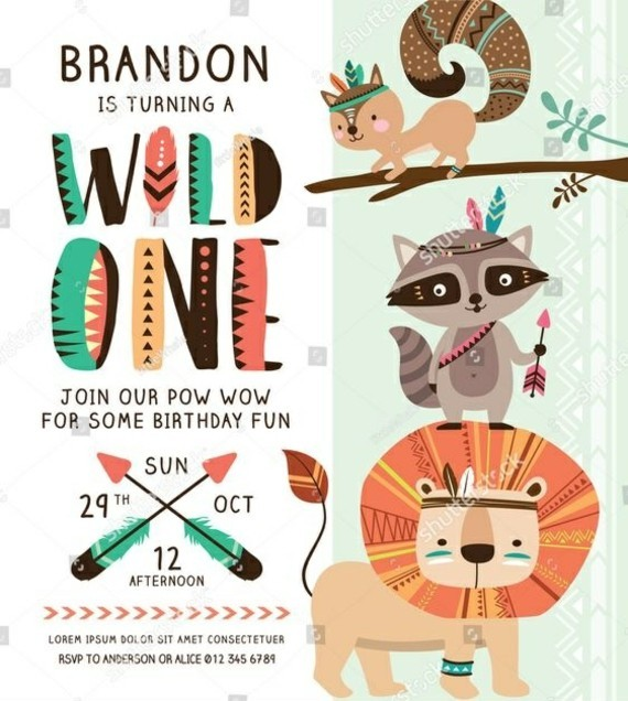 kreative Einladungskarten gestalten wilde Tiere