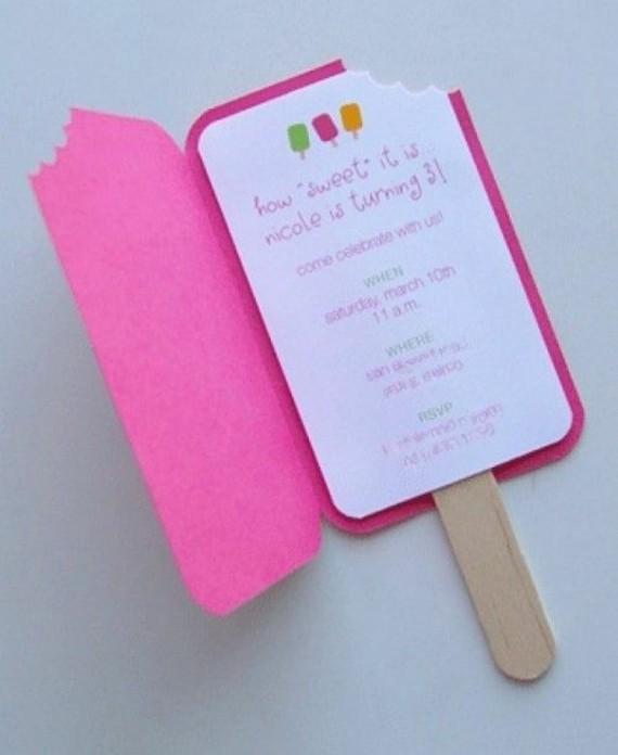 kreative Einladungskarten selbst gestalten Eis Design