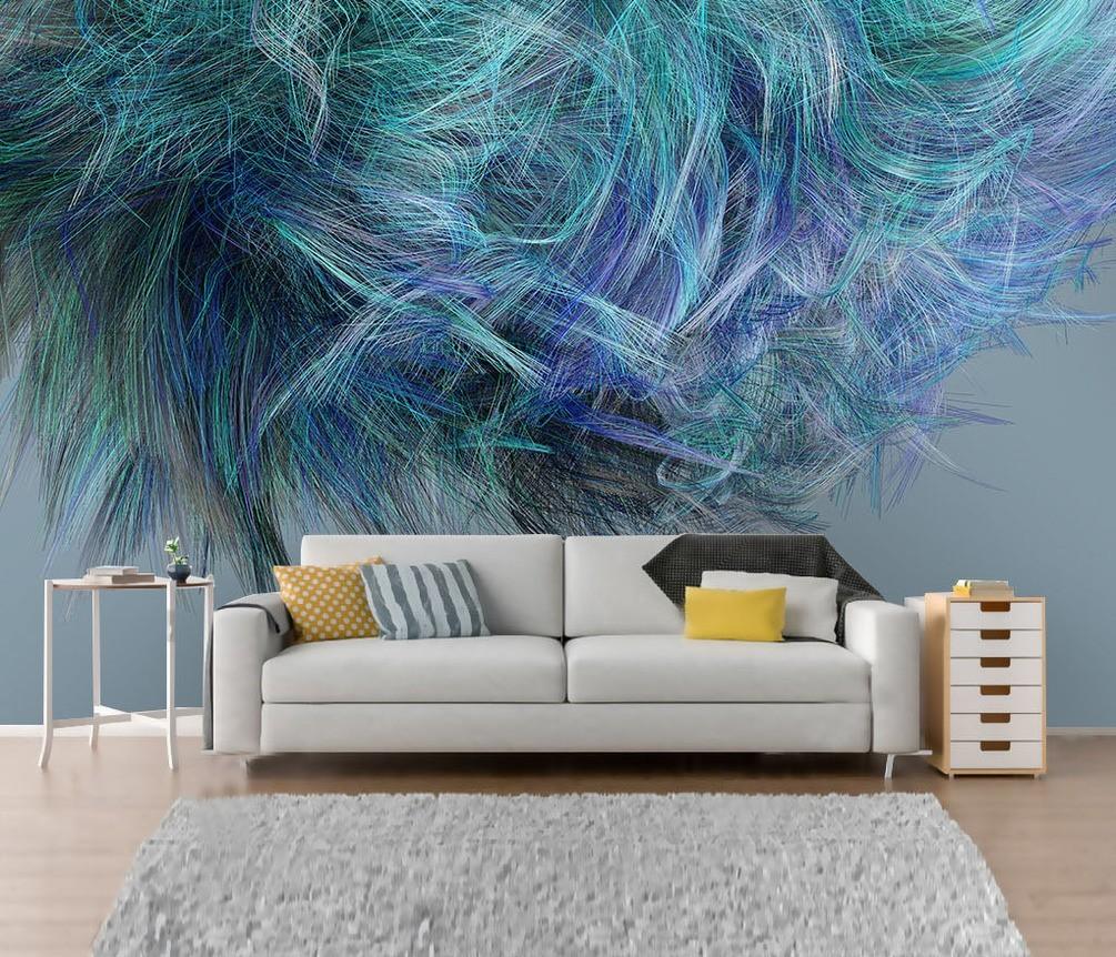 kreative fototapeten wandgestaltung wohnzimmer