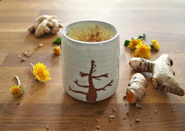 kurkuma latte löwenzahntee gesund