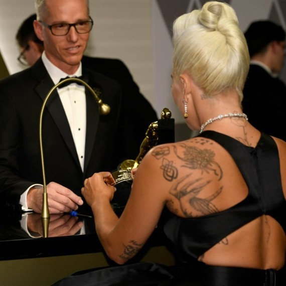 lady gaga tattoos Sexual Assault Survivor Symbol
