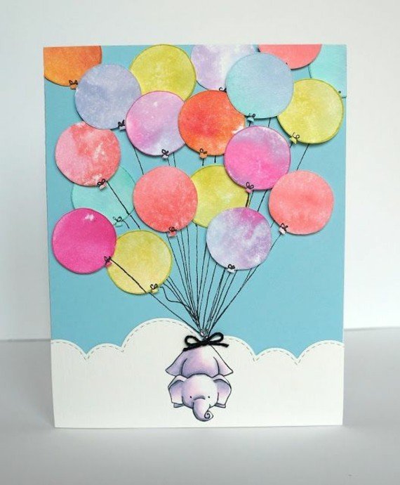 lustige Einladungskarten selbst gestalten Elefant