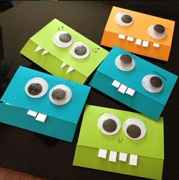lustige Einladungskarten selbst gestalten Monster Design
