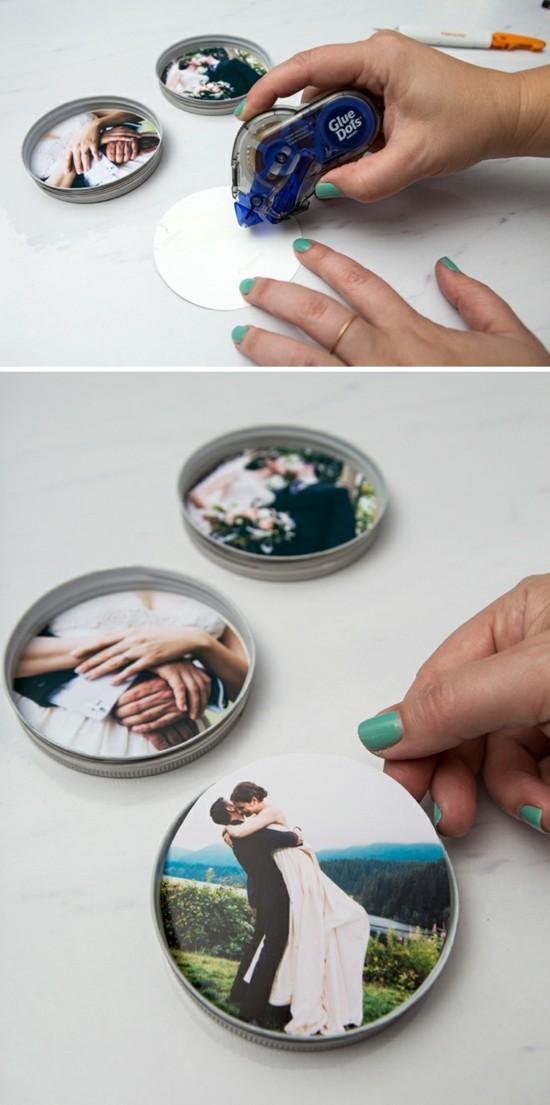 runde fotountersetzer hochzeitsdeko selber machen