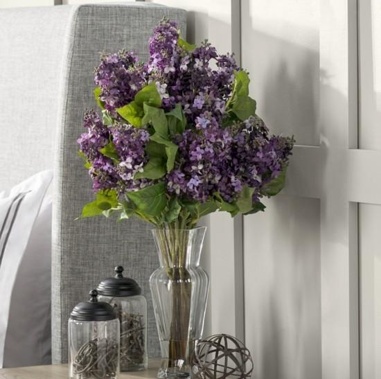 Lavender Deko Idee im Schlafzimmer