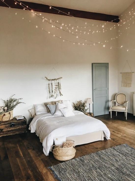 slow living boho style schlafzimmer puristisch