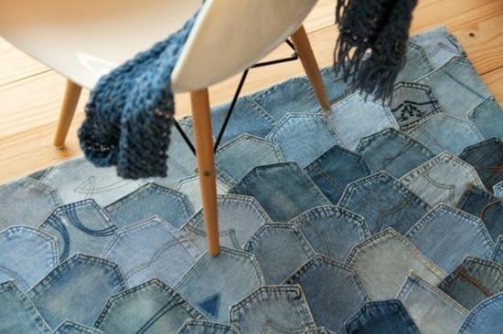 teppich jeans upcycling idee zum selber machen