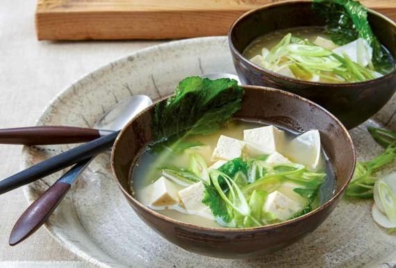 traditionelle japanische Miso Suppe asiatische Suppe