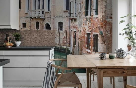 wandgestaltung küche fototapeten küche dekoideen