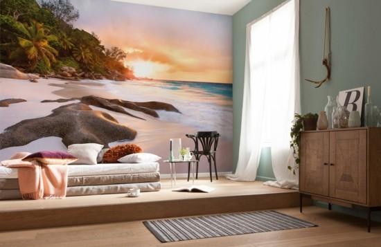 wandgestaltung wohnzimmer fototapeten auswahl