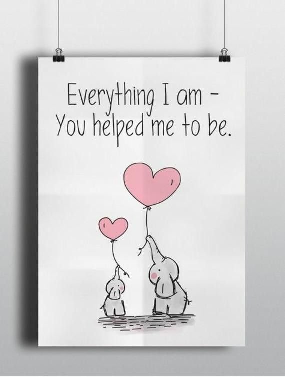 wann ist Muttertag 2019 Grußkarte Elefanten Herz Luftballon