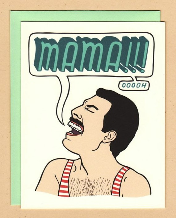 wann ist Muttertag 2019 Grußkarte Freddie Mercury