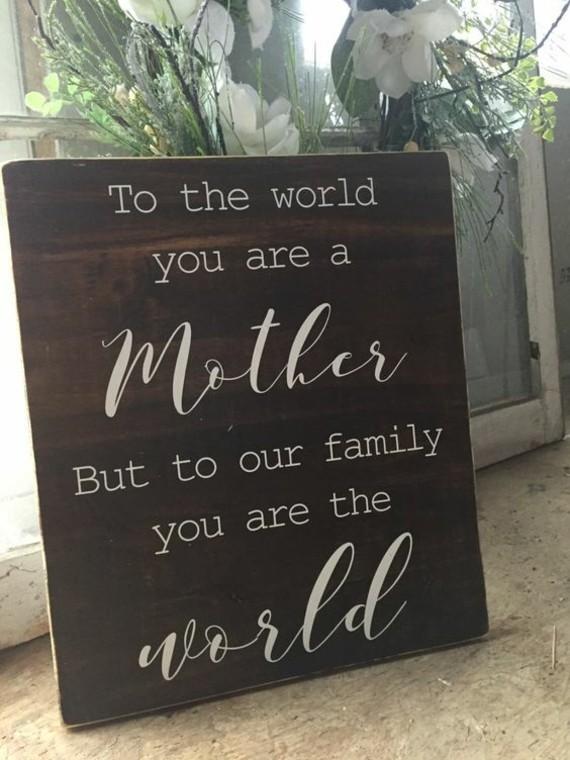 wann ist Muttertag 2019 Grußkarte aus Holz Handschrift