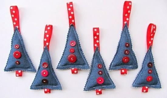 weihnachtsdeko jeans upcycling ideen
