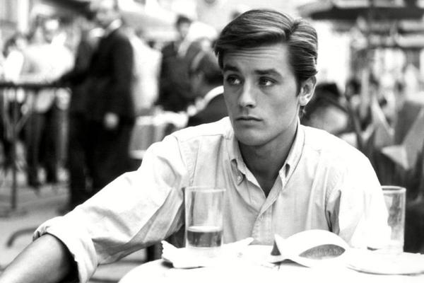 Alain Delon Engelsgesicht graue Augen Goldene Ehren-Palme Cannes