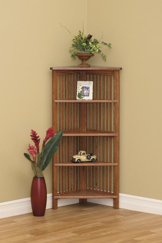 Eckmöbel clevere Lösung mehr Stauraum Eckregal aus Holz dekorative Funktion