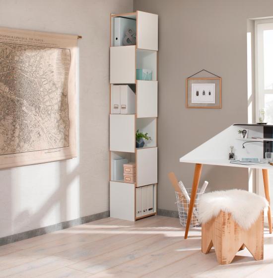 Eckmöbel clevere Lösung mehr Stauraum in der Ecke im Heimbüro