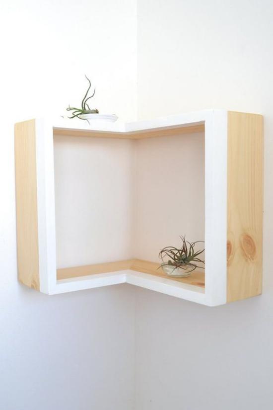 Eckmöbel clevere Lösung mehr Stauraum simples Design dekorative Funktion