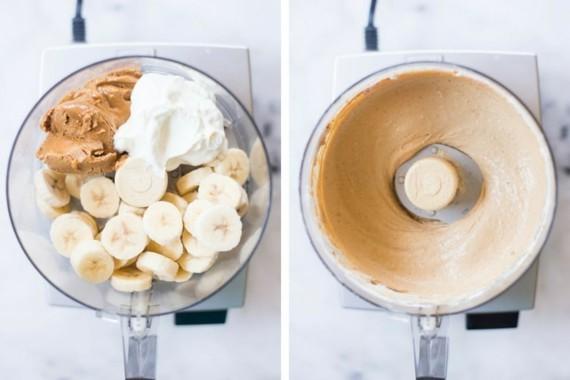 Erdnussbutter Joghurteis Frozen Joghurt Rezept ohne Eismaschine