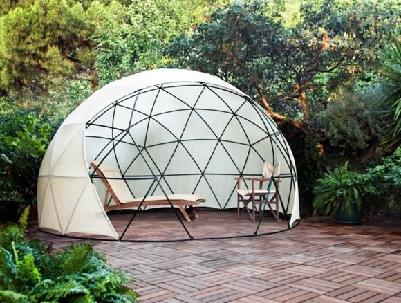 Garten Iglu bauen einfache Montage moderner Wintergarten Gartenmöbel