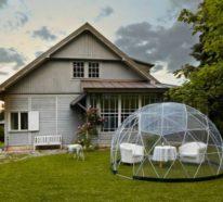 Das Garten Iglu mit 360 Grad Blick ersetzt den herkömmlichen Wintergarten