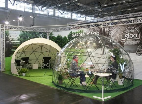 Garten Iglu moderner Wintergarten Garden Igloo Ausstellung