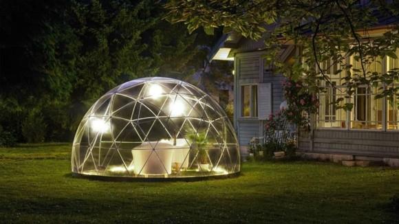 Garten Iglu moderner Wintergarten Gartenmöbel Gartenbeleuchtung