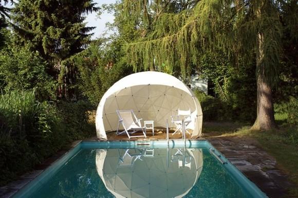 Garten Iglu moderner Wintergarten Gartenpool Lounge Möbel