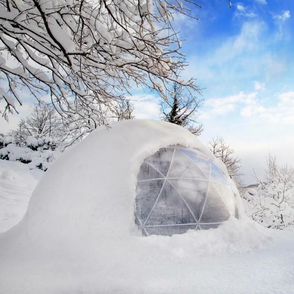 Garten Iglu moderner Wintergarten Winter Schnee