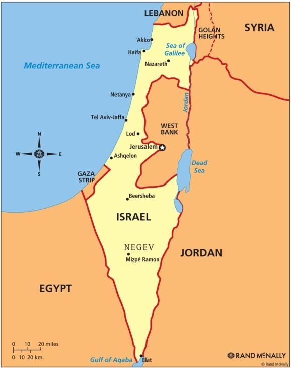 Israel Reisetipps Landkarte Sehenswürdigkeiten Großstädte
