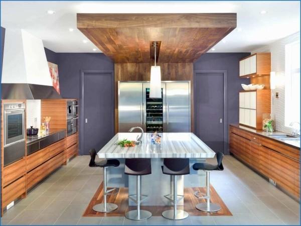 Küchentrends 2019 Lila Akzentwand