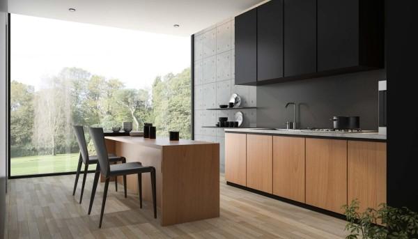 Küchentrends 2019 grau und holz