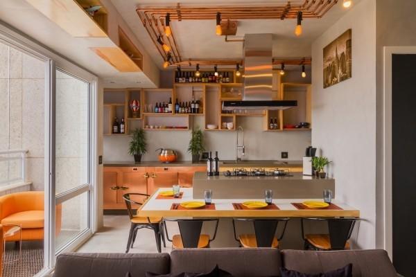 Küchentrends 2019 holz und orange