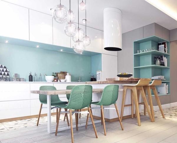 Küchentrends 2019 minzgrüne moebel