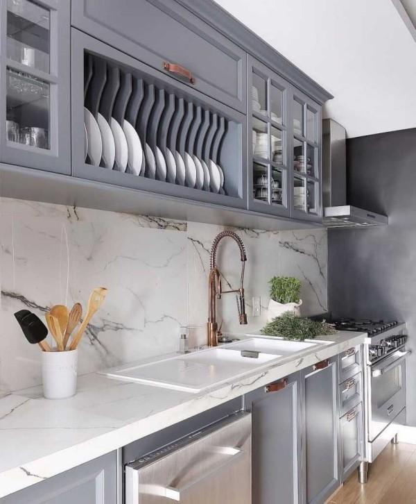 Küchentrends 2019 verschiedene graue ideen