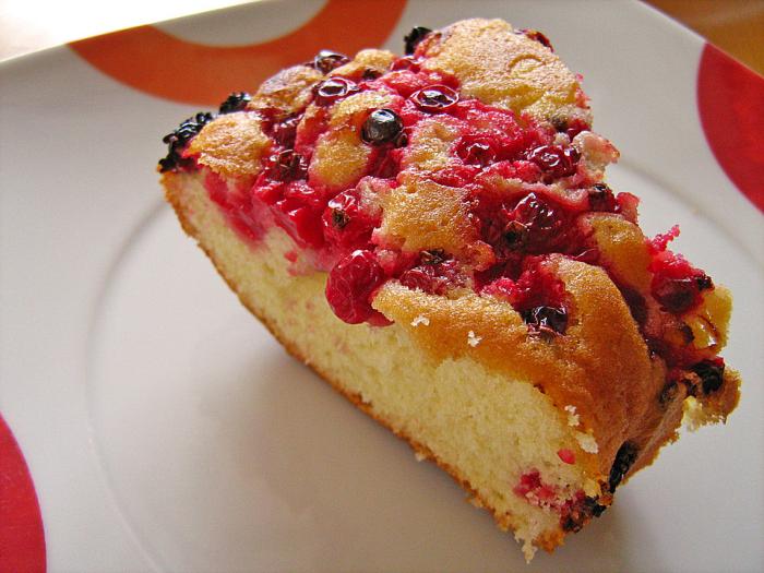 Kuchenrezepte zum Abnehmen Johannisbeere Kuchen mit Baser Häubchen jedes Stück 107 kcal