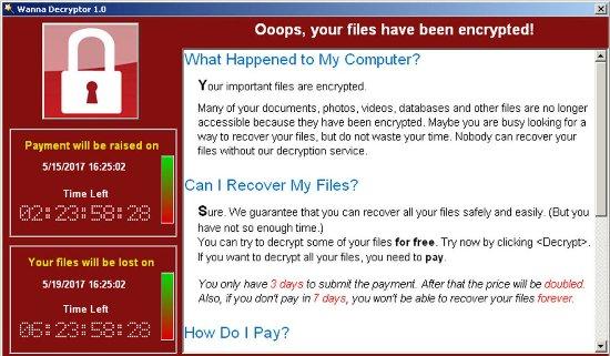 Laptop mit 6 der gefährlichsten Malware der Welt für 1,34 Mio. USD verkauft wannacry virus screenshot