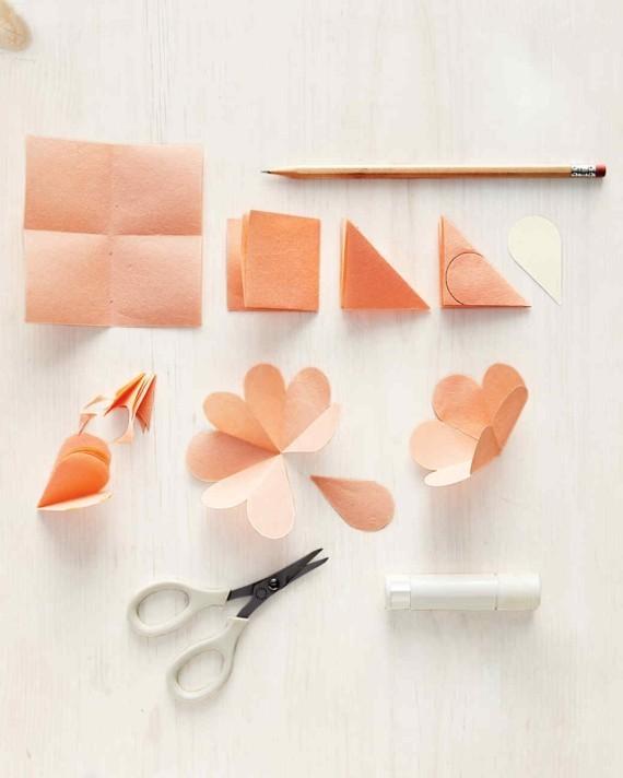 Last Minute Geschenke zum Muttertag 3D Karte Blumen Materielien