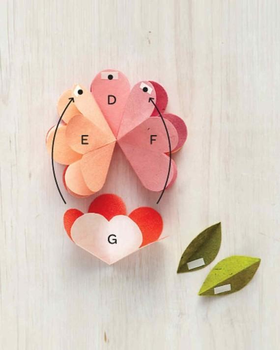 Last Minute Geschenke zum Muttertag 3D Karte Blumen Papierblume