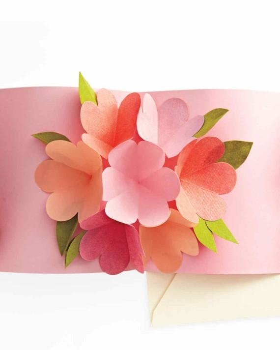 Last Minute Geschenke zum Muttertag 3D Karte Blumen